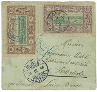 Lot 4028: 1894, small envelope from Harar (type 2)